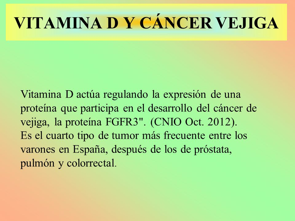 cancer de vejiga y vit. D 2